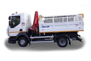 Tipper truck with a volume of 5 m3 and a crane for deck waste - PRODRES ATRIKOD