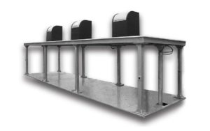 Underground platform for municipal containers - underground containers