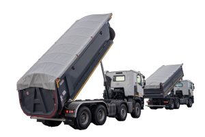 Three-sided and one-sided tipper of larger capacities ATRIK